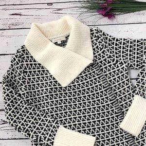 [Ellen Tracy] Patterned Open Cardigan Sweater